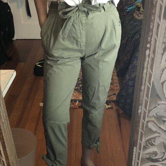 Zara Pants - Zara Paperbag Waist Trousers